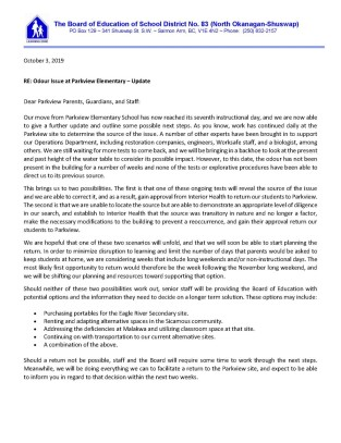 thumbnail_Letter to Parkview Parents - Update_Page_1